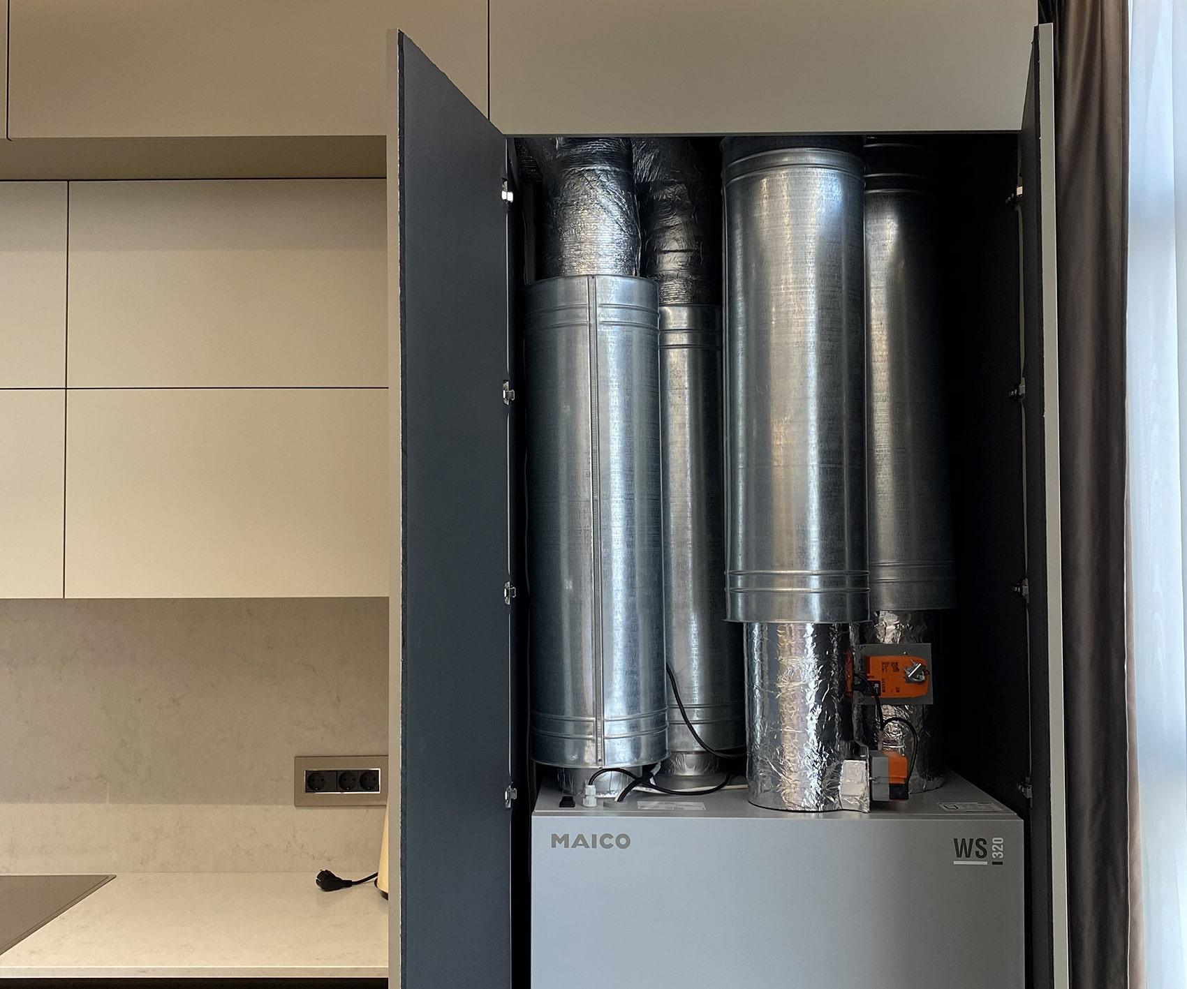 Приточно-вытяжная установка с рекуперацией тепла Maico WS 320