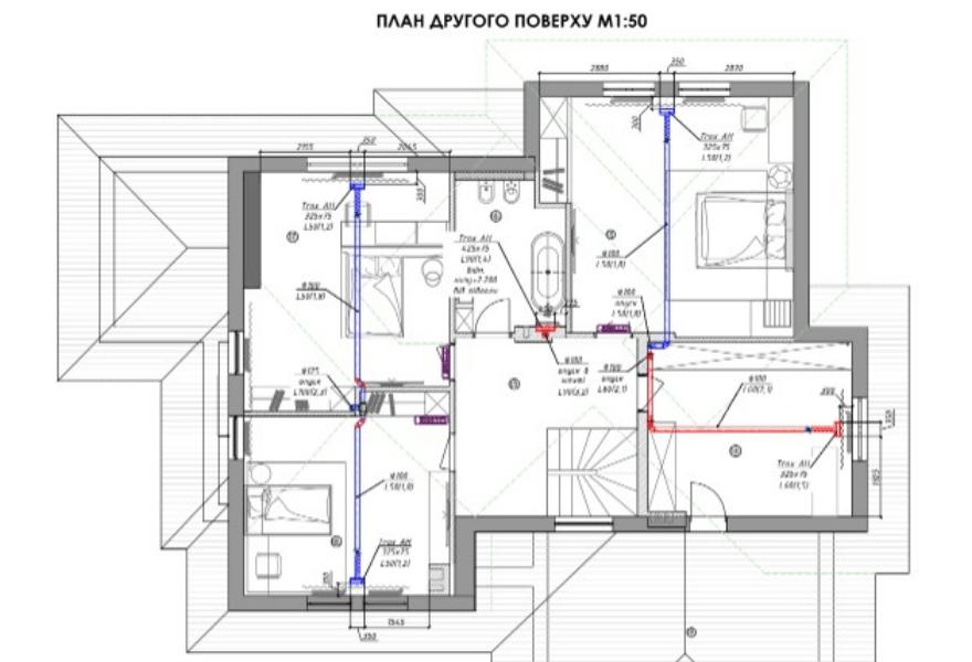 Креслення проєкту (другий поверх)