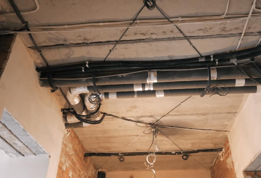 Система повітропроводів в квартирі 160 м2