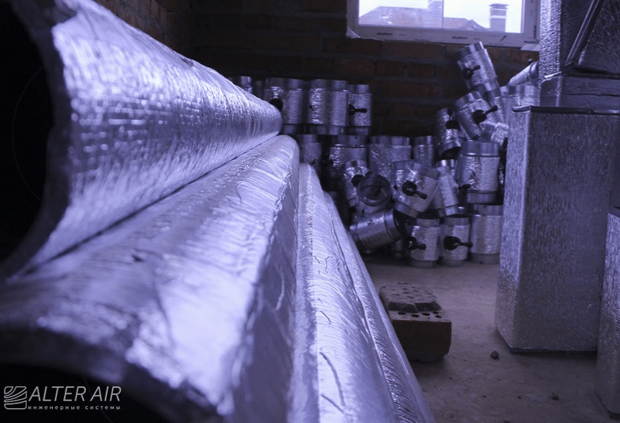 Воздуховоды для вентиляции (на объекте)