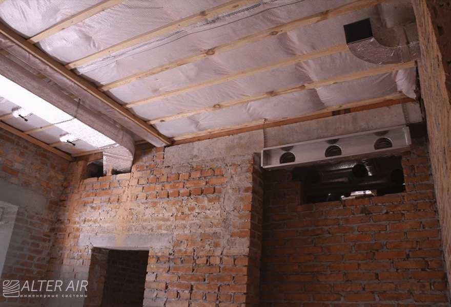 Потолок (закладка коммуникаций)