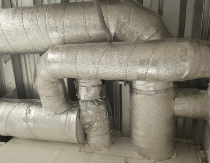 Воздуховоды (этап монтажа)
