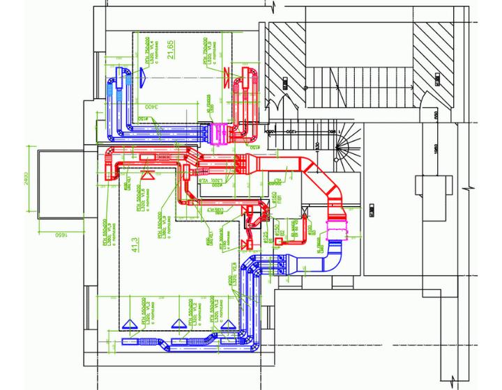 Система вентиляції та кондиціонування дворівневої квартири (1 поверх)