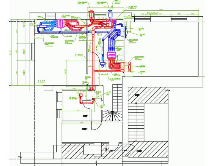 Система вентиляції та кондиціонування дворівневої квартири (2 поверх)