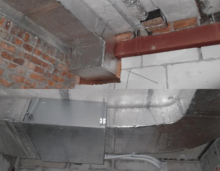 Реалізація системи повітропроводів (вентиляція)