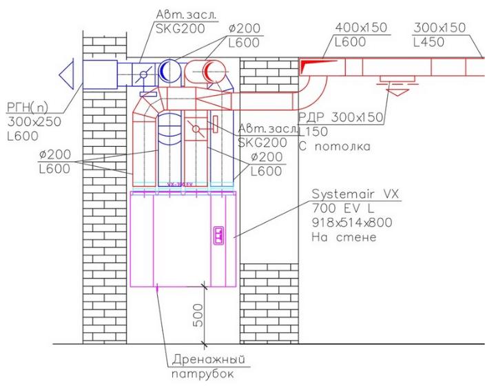 Вентиляция офисного помещения (2 кабинета и кухня)