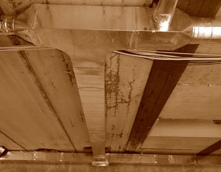 Соединение круглых и прямоугольных каналов воздуховодов