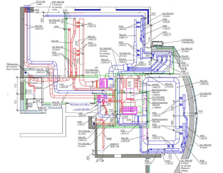 Проектирование вытяжной вентиляции и кондиционирования воздуха
