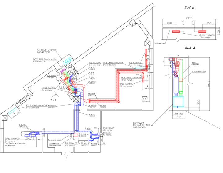 Креслення системи вентиляції та кондиціонування