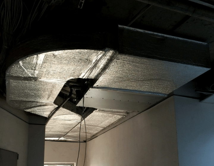 Установка внутрішнього блоку канального кондиціонера (у підшивній зоні)