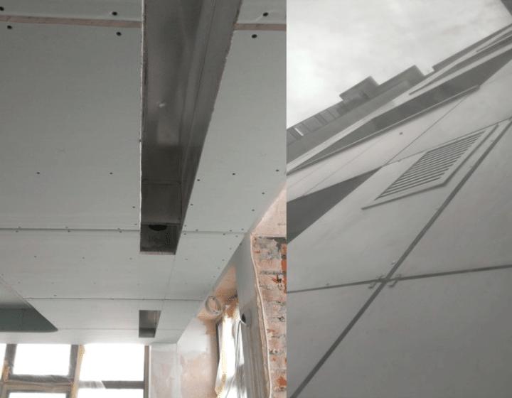 Вентиляційні решітки на фасаді будівлі