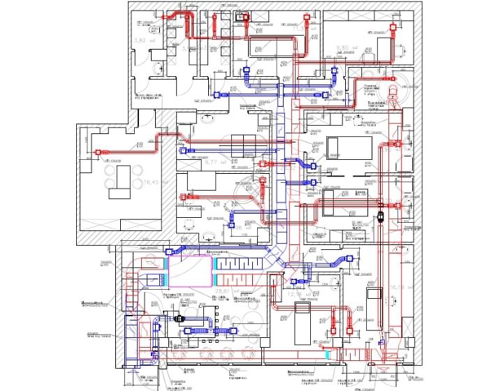 Креслення системи вентиляції
