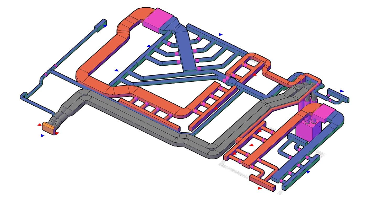 3Д-візуалізація повітропроводів: вид 1