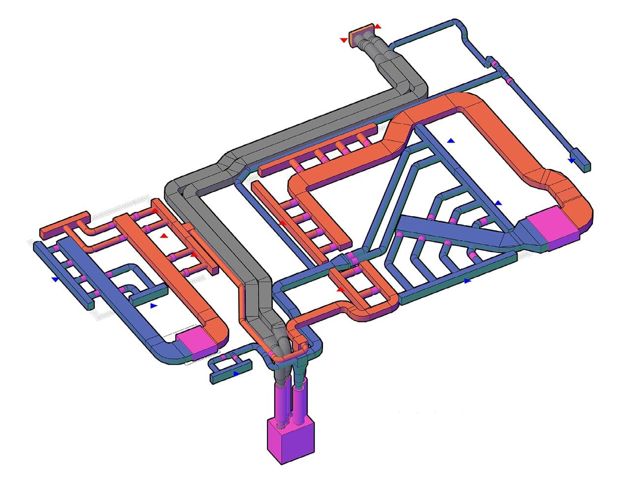 3Д-візуалізація повітропроводів: вид 2