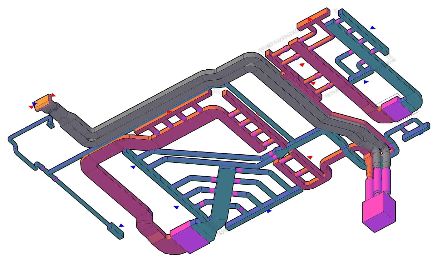3Д-візуалізація повітропроводів: вид 3