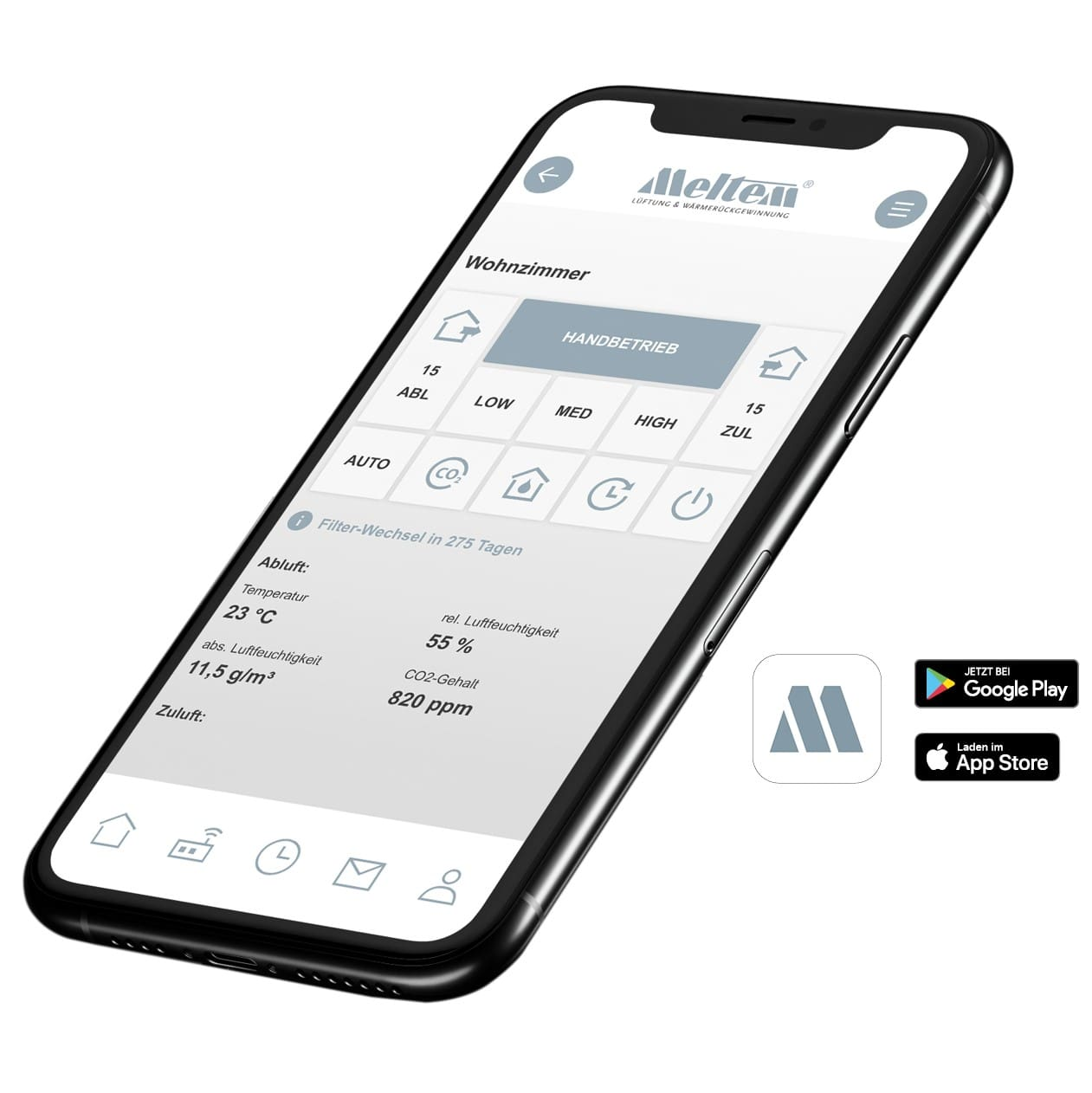 Додаток Meltem App Mockup